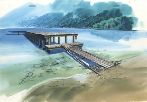 木崎湖の桟橋